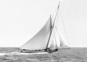 Cutter sailing on the ocean, 1910 by Anonymous