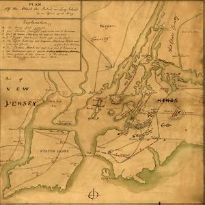 Plan of the attack the rebels on Long Island by Anonymous