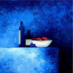 Still Life in Blue I by Anouska Vaskebova
