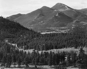 Barren mountains, Rocky Mountain National Park, Colorado, ca. 1941-1942 by Ansel Adams