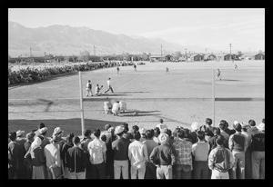 Baseball Game at Manzanar by Ansel Adams