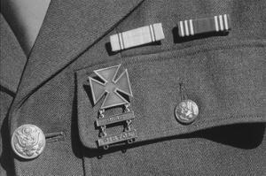 Corporal Jimmie Shohara's Ribbons by Ansel Adams
