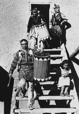 Dance, San Ildefonso Pueblo, New Mexico, 1942 by Ansel Adams
