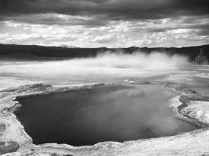 Fountain Geyser Pool, Yellowstone National Park, Wyoming, ca. 1941-1942 by Ansel Adams