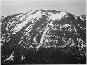"""Full View Of Barren Mountain Side With Snow """"In Rocky Mountain National Park"""" Colorado 1933-1942 by Ansel Adams"""