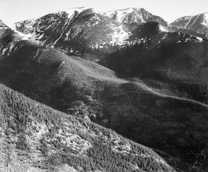Hills and mountains, in Rocky Mountain National Park, Colorado, ca. 1941-1942 by Ansel Adams