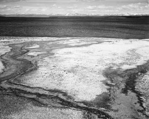 Hot Springs Overflow, Yellowstone National Park, Wyoming, ca. 1941-1942 by Ansel Adams