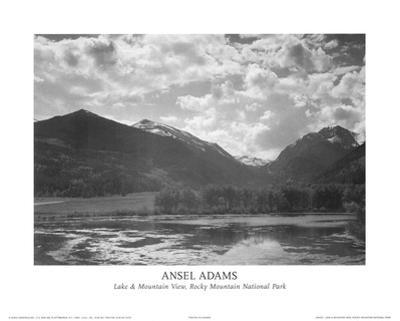 Lake & Mountain View Rocky Mountain National Park by Ansel Adams