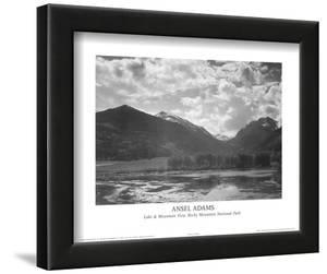 Lake & Mountain View Rocky Mountain National Park by Ansel Adams