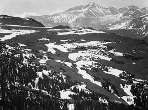 Long's Peak, in Rocky Mountain National Park, Colorado, ca. 1941-1942 by Ansel Adams