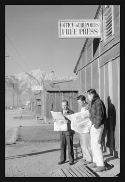 Manzanar Free Press by Ansel Adams