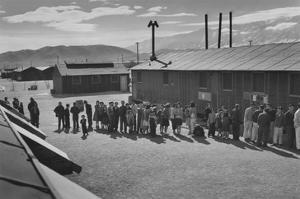 Mess Line, Noon by Ansel Adams