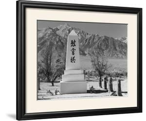 Monument in Cemetery by Ansel Adams