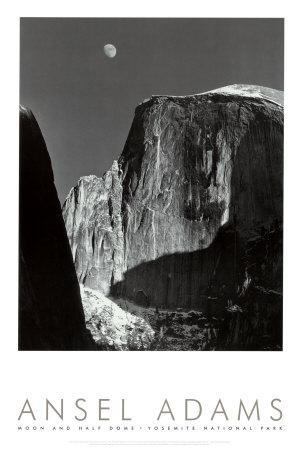 Moon and Half Dome, Yosemite National Park, 1960
