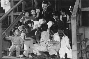 Mr. Matsumoto and Group of Children by Ansel Adams