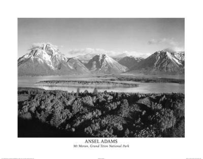 Ansel Adams Mt Moran Grand Teton Art Print Poster