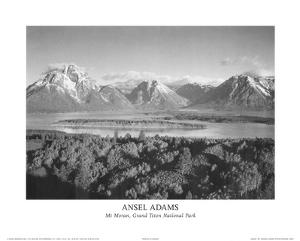 Mt Moran Grand Teton by Ansel Adams