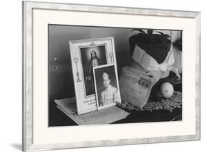 Pictures and Mementoes on Phonograph Top: Yonemitsu Home by Ansel Adams