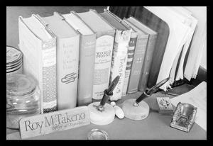 Roy Takeno's Desk by Ansel Adams