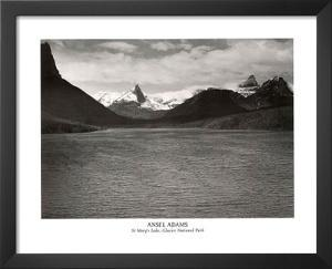 Ansel Adams St. Mary's Lake Glacier National Park Print Poster