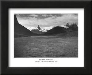 St Mary's Lake Glacier National Park by Ansel Adams