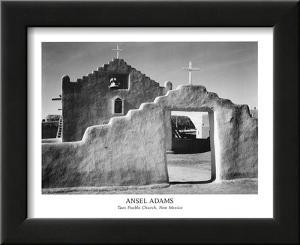 Taos Pueblo Church New Mexico by Ansel Adams