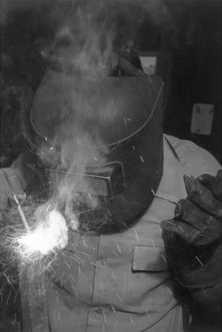 Welder by Ansel Adams