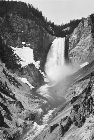 Yellowstone Falls, Yellowstone National Park, Wyoming. ca. 1941-1942 by Ansel Adams
