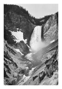 Yellowstone Falls, Yellowstone National Park, Wyoming. ca. 1941-1942 by Ansel Adams