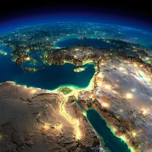 Night Earth. Africa and Middle East by Antartis