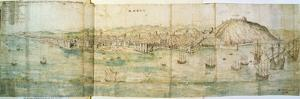 Malaga, 16th Century by Anthonis van den Wyngaerde