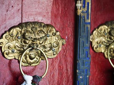Dragon Head Door Grip, Likir, Ladakh, India