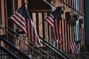 Brownstone Flags, 2018 by Anthony Butera