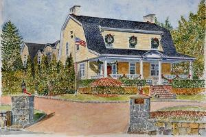 Dutch Colonial watercolor by Anthony Butera