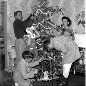 Family, Christmas, 1950, by Anthony Butera