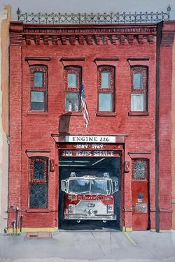 Firehouse 226,2000, watercolor by Anthony Butera