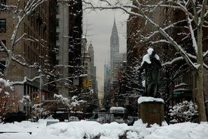 Gramercy Park, Snow, NYC, 2012 by Anthony Butera