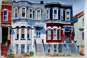 Historic Homes, NYC, 2006,watercolor) by Anthony Butera