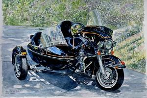 Motocycle with Sidecar, 2009, (watercolor) by Anthony Butera