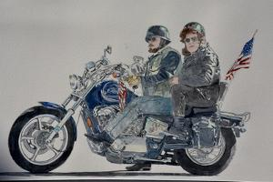 Motorcycle Ride, 1991,(watercolor) by Anthony Butera