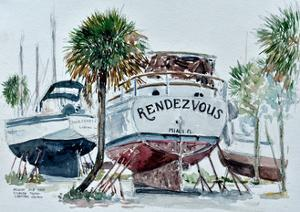 Nelson's Boatyard, Titusville, Florida by Anthony Butera