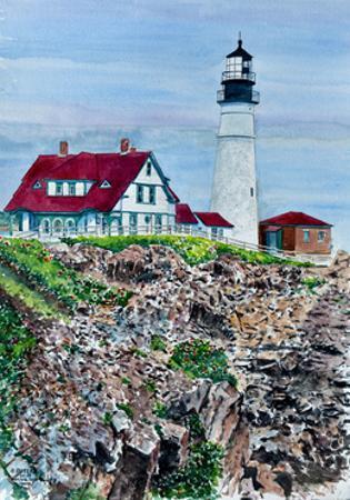 Portland Headlight, Maine by Anthony Butera