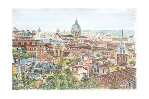 Rome, Overview from the Borghese Gardens, 2013 by Anthony Butera