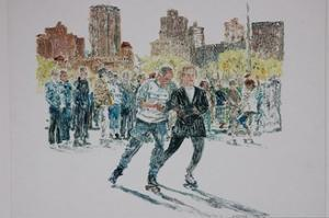Skaters, Central Park, 1997 by Anthony Butera