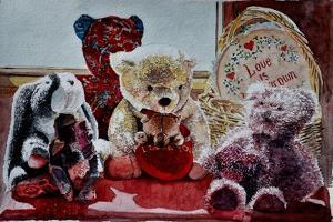 Teddy Bears and Rabbit,2010 (watercolor);, by Anthony Butera