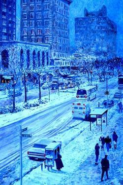 Upper West Side, Manhattan, Snow, 2013 by Anthony Butera