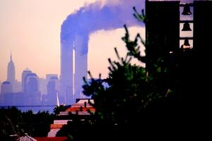 World Trade Center, 9/11, From Staten Island, 2001 by Anthony Butera