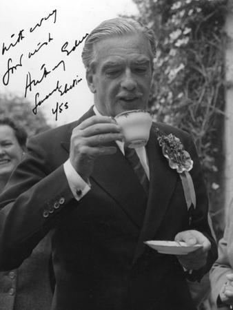 Anthony Eden, British Conservative Politician, Drinking a Cup of Tea, 1955