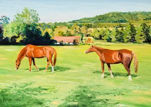 Grazing Horses near Otford, Kent by Anthony Fandino