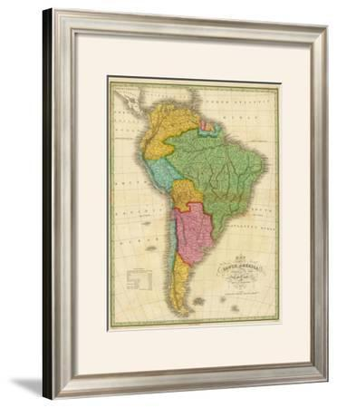 Map of South America, c.1826